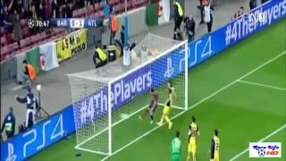 أهداف مباراة برشلونة 1-1 اتليتكو مدريد دوري ابطال اوربا 1-4-2014