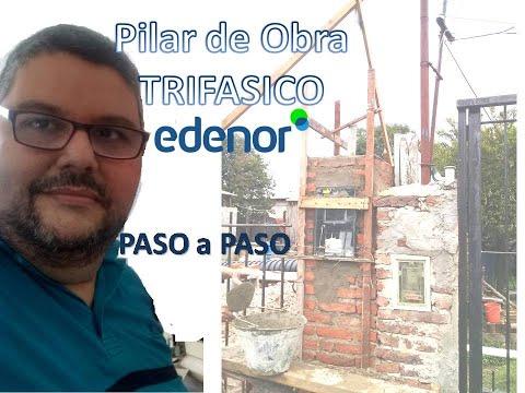 Como Hacer un Pilar Trifasico de Obra PASO A PASO-tutorial