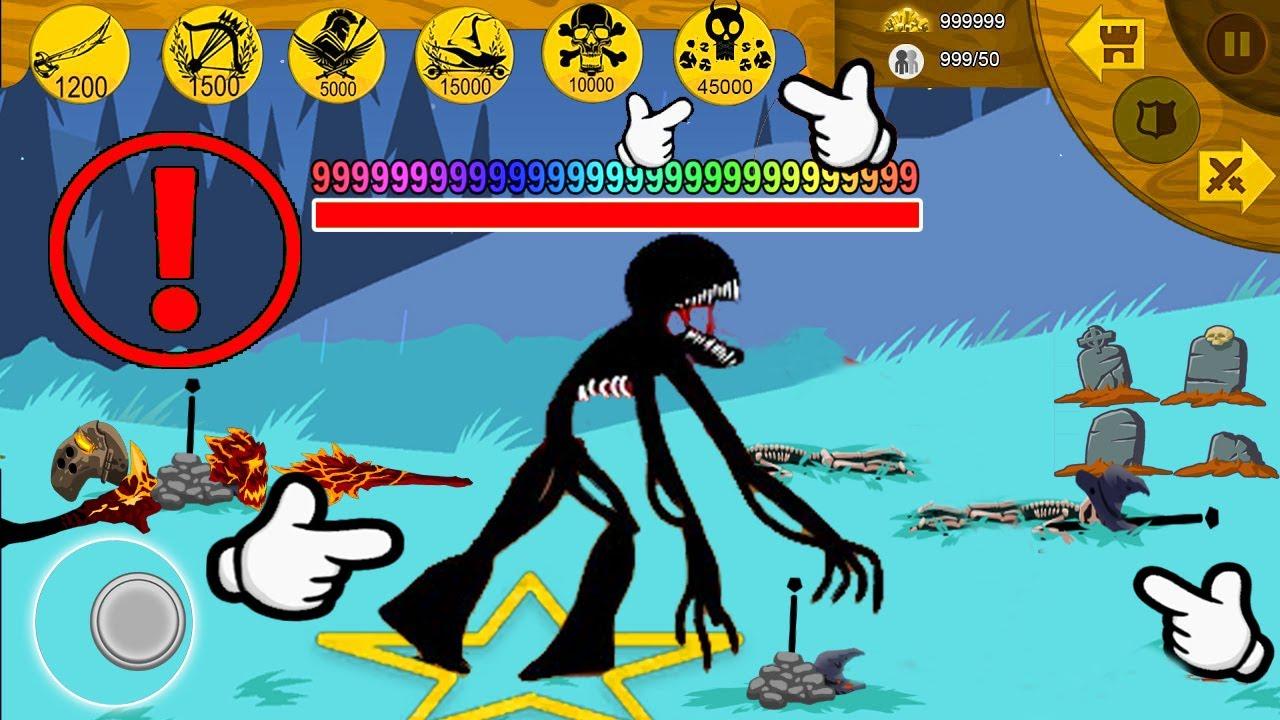 Stick War Legacy   NEW FINAL BOSS ZOMBIE TITAN MAXIMUM HP9999   Stick War Legacy Fight
