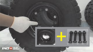 How To Change Forklift Tire Pneumatic To Forklift Tire Solid. Solid Forklift Tire Replacement