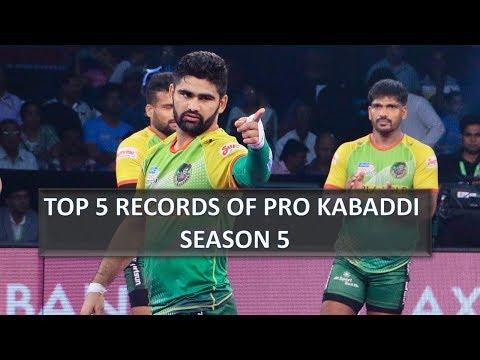 5 Records and Milestone of Pro Kabaddi Season 5 |Top 5 Records of Pro Kabaddi Raiders and Defenders