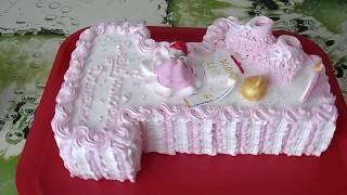 Торт Единичка Кремовое украшение торта/Edinichka Kremovoye cake decoration of cake