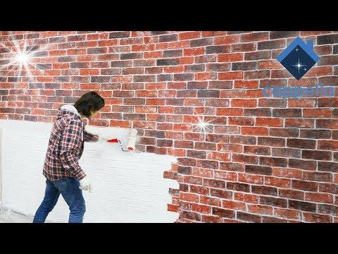 Как покрасить стены под кирпичную кладку