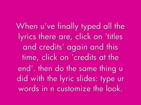 how to make lyric videos using powerpoint