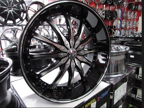 HILLYARDS RIM LIONS DCENTI DW8 22 INCH BLACK & MACHINED DEEP LIP 22S IN STOCK RIMS
