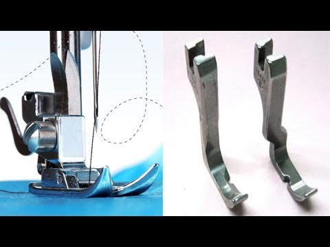 How to Change Normal Sewing Machine Presser Foot For lace & Piping Stitching | Single Presser Foot|