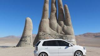 Trajeto de San Pedro de Atacama a Antofagasta e La Mano del Desierto