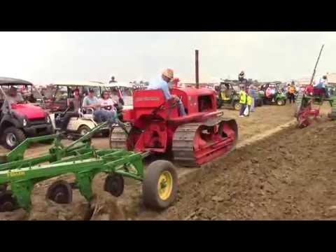 Crawler Tractors Plowing at the 2015 Half Century of Progress Show