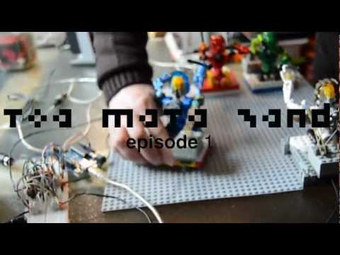 Watch these Lego Bionicle toy robots make music with drum machines, xylophones, synthesizers and other makeshift instruments