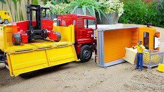 덤프트럭 지게차 중장비 자동차 장난감 트럭놀이 Dump Truck with Forklift Toy Play