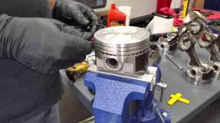 Installing Piston Rings 289 Engine - Anna's 1965 Mustang Convertible A Code - Day 49 Part 3