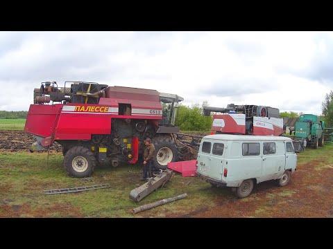 Ремонт комбайна Палессе-GS12. Замена лап на культиваторе КПМ-10. (170-День 3-Сезона)