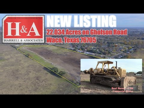 Waco Commercial Real Estate For Sale: 22.034 Acres On Gholson Road | Waco, Texas 76705
