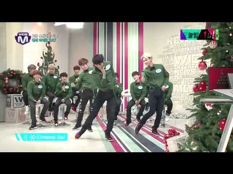 EXO Mnet Wide Open Studio Christmas Day Dance 131219