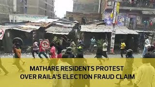 Mathare residents protest over Raila