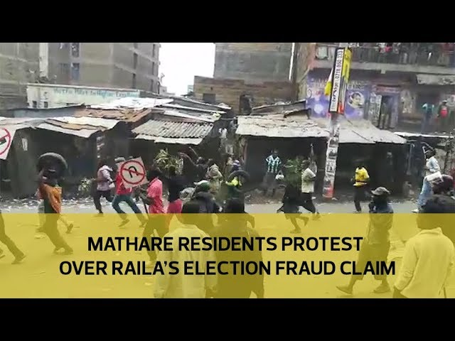 Mathare residents protest over Raila's election fraud claim