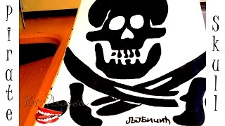 How to Draw a Simple SKULL Easy for Kids, Pencil - a PIRATE Skull with Crossed SWORDS |SPEED DRAWING