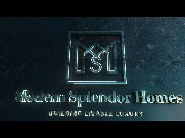 Modern Splendor Homes Logo Animation
