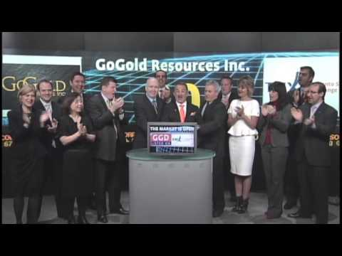 GoGold Resources Inc. (GGD:TSX) opens Toronto Stock Exchange, January 8, 2013.