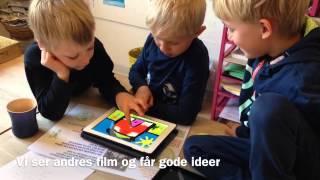 Tegne på iPad i børnehaven