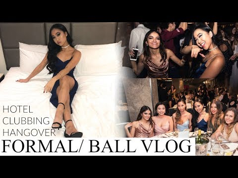 Formal/ Ball VLOG ☆ Hotel, Clubbing, Hangover | THERESATRENDS