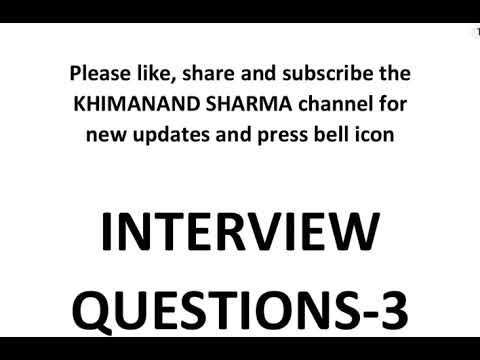 INTERVIEW QUESTIONS-3 EVERY CIVIL ENGINEER MUST KNOW