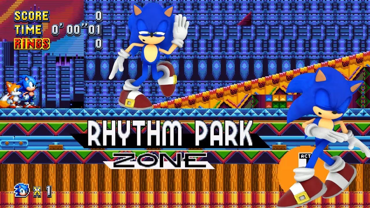 Sonic Mania Rhythm Park mod The music is Music Great!