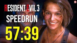 RESIDENT EVIL 3 REMAKE - SPEEDRUN, ZERANDO EM 57:39 Sem munição infinita ou itens da loja