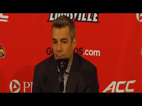 MEN'S BASKETBALL: Coach Bennett Louisville Postgame