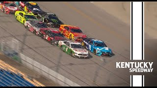 Rookie Cole Custer wins after four-wide battle at Kentucky Speedway | NASCAR Cup Series