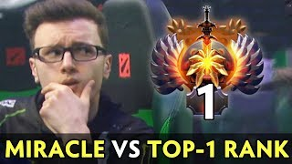 MIRACLE vs TOP-1 RANK — who is better hard carry?