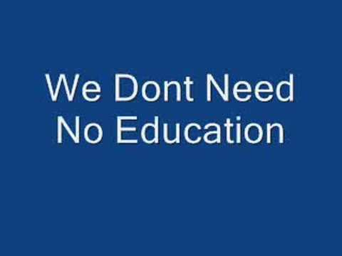 Pink Floyd - We Don't Need No Education Lyrics in Descriptio