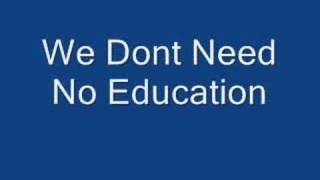 Pink Floyd We Don T Need No Education Lyrics In Description