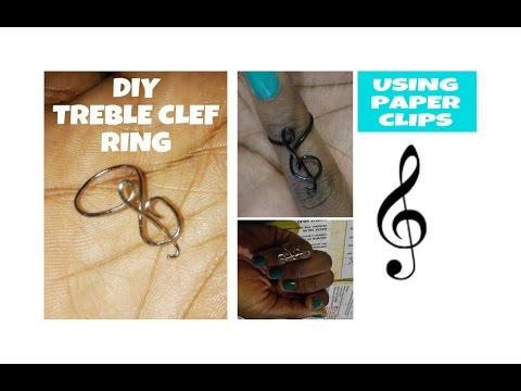 DIY TREBLE CLEF RING USING PAPER CLIPS! (stationery inspired diy)