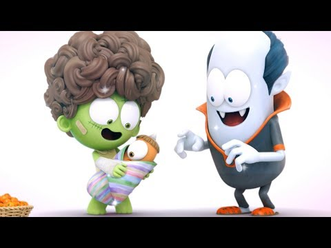 Funny Animated Cartoon | Spookiz | The Monster Family | 스푸키즈  | Cartoons For Children | Kids Movies