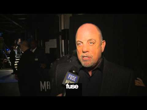 """Billy Joel Backstage at """"12-12-12"""" The Concert for Sandy Relief"""
