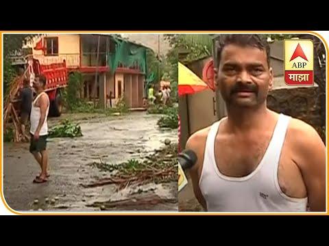 Cyclone Nisarga | चक्रीवादळामुळं अनेक ठिकाणी घरांचं नुकसान, अनेक ठिकाणी रस्त्यावर झाडं उन्मळून पडली