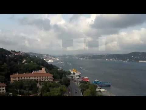 The Journey from Asian to European side by Metrobus in Istanbul (Turkey)