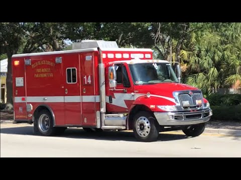 Palm Beach County FL Fire-Rescue Rescue 14 Responding