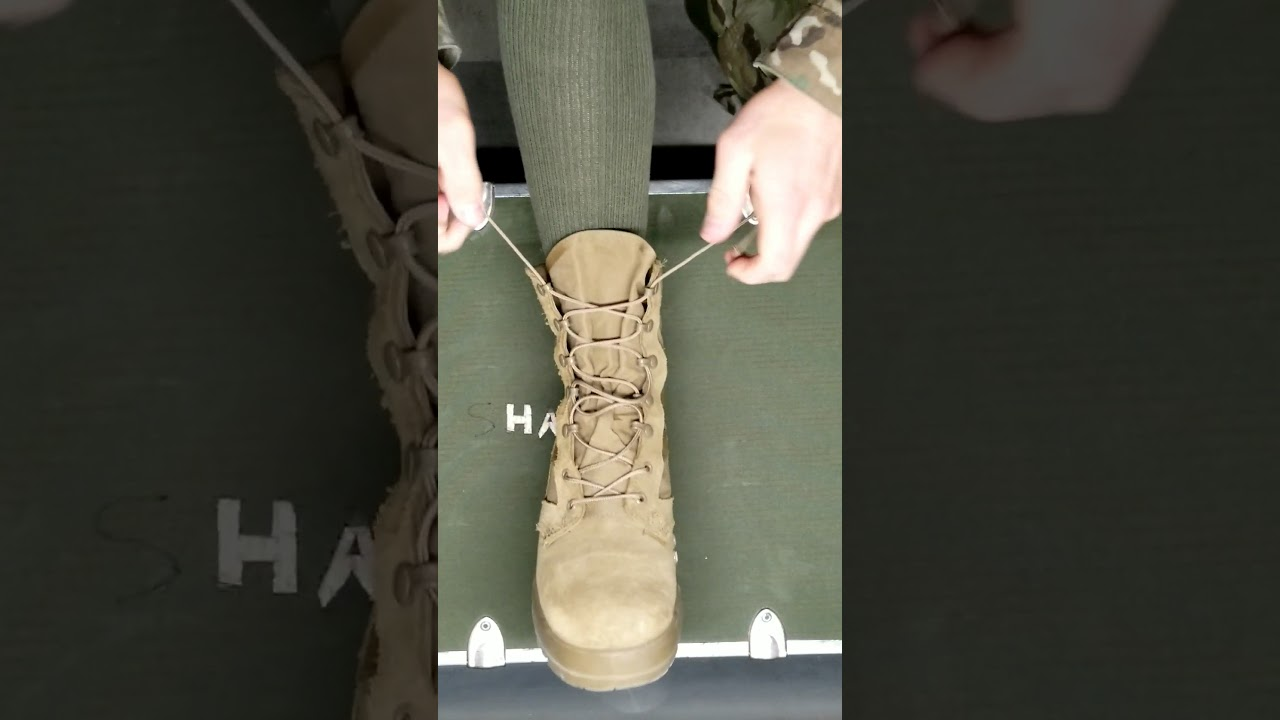 How to Tie Combat Boots - YouTube