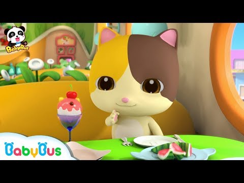 Baby Kitten Loves Ice Creams | Good Manners At The Restaurant | Eat by Yourself | | BabyBus