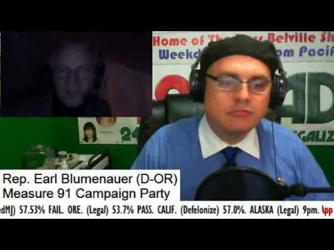 Marijuana Election Night 2014 - Rep. Earl Blumenauer at Measure 91 Victory Party
