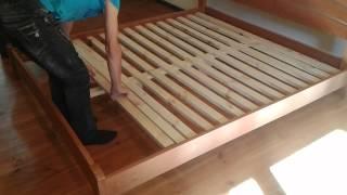 Кровать Виола Люкс - Инструкция по сборке.(Данное видео дает представление о том, как своими силами собрать двуспальную кровать из натурального дерев..., 2014-08-31T19:23:19.000Z)