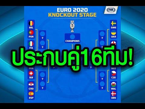 ประกบคู่รอบ 16 ทีมสุดท้าย ยูโร 2020