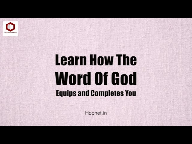 How God Equips And Completes You. Part 1 | House Of Prayer | Ps. Thomas Jayaraj