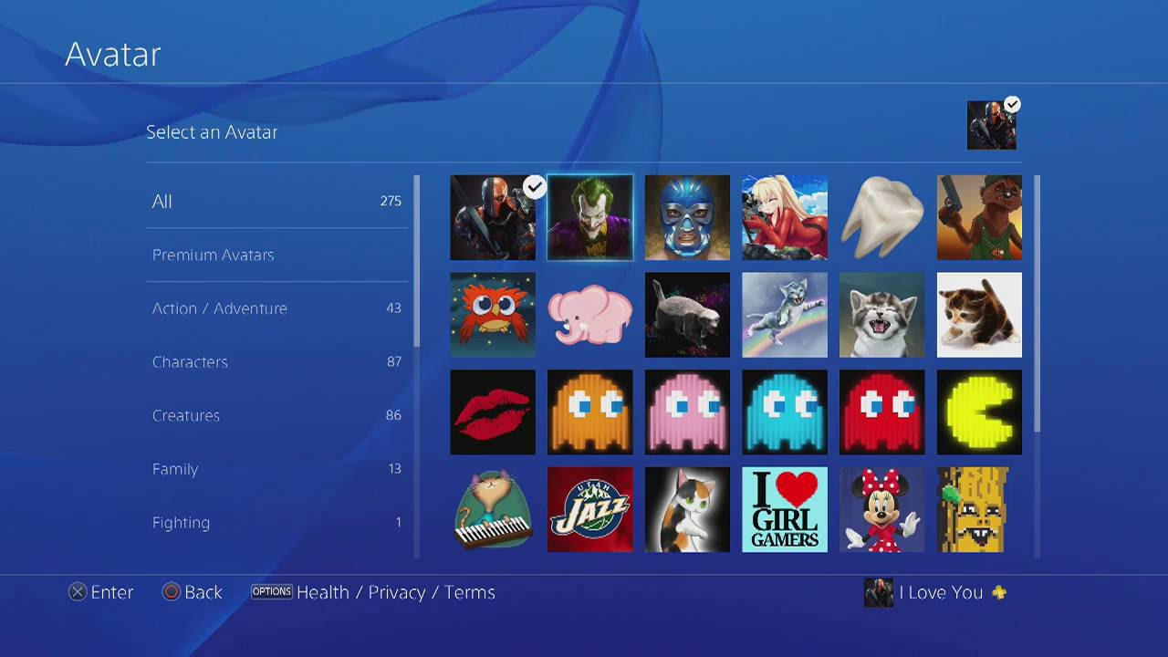 how to search for avatars on ps4