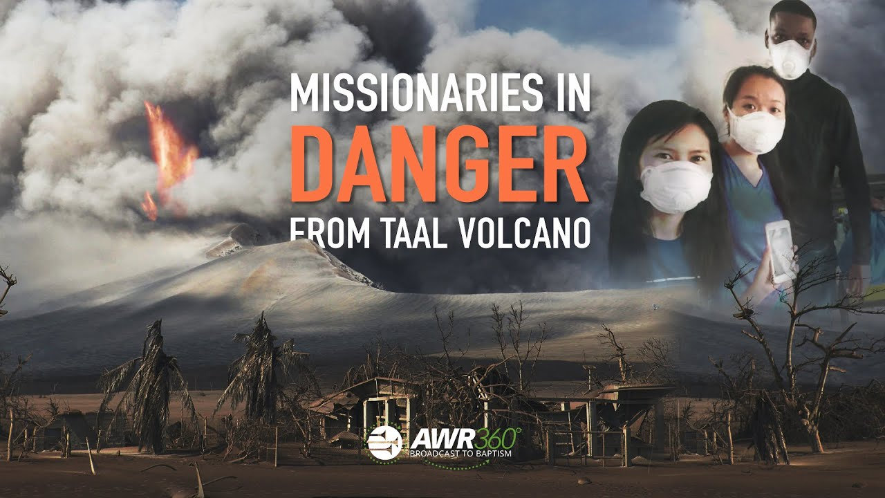 video thumbnail for Missionaries in DANGER from Taal Volcano | AWR360°