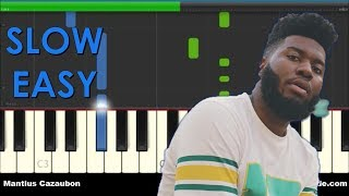 How To Play Young Dumb & Broke by Khalid - Slow Easy Piano Tutorial