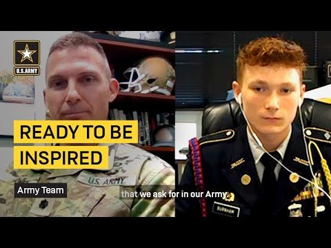 Ready to be inspired? Watch until the end to see how an Army Cadet Command leader surprises a young Soldier.#USArmy   #PeopleFirst   #ArmyTeamAbout U.S. Army: The Army Mission – our purpose – remains constant:  To deploy, fight and win our nation's wars by providing ready, prompt and sustained land dominance by Army forces across the full spectrum of conflict as part of the joint force.Connect with U.S. Army online: Web: https://www.army.mil STAND-TO!: https://www.army.mil/standto Facebook: https://www.facebook.com/USarmy/ Twitter: https://twitter.com/USArmy Instagram: https://www.instagram.com/usarmy/ Flickr: https://www.flickr.com/photos/soldier...