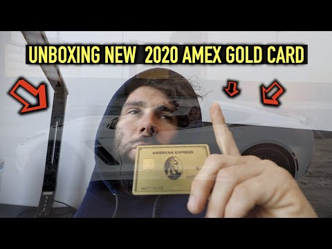 AMERICAN EXPRESS GOLD CARD UNBOXING